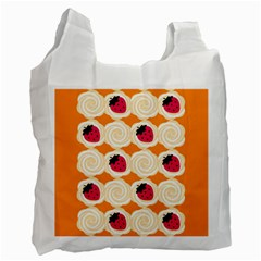 Cake Top Orange Recycle Bag (One Side)