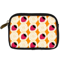 Cake Top Orange Digital Camera Leather Case