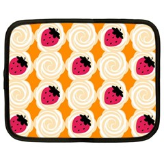 Cake Top Orange Netbook Case (XL)