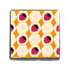Cake Top Orange Memory Card Reader with Storage (Square)