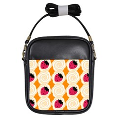 Cake Top Orange Girls Sling Bag