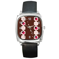 Cake Top Choco Square Metal Watch