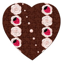 Cake Top Choco Jigsaw Puzzle (Heart)