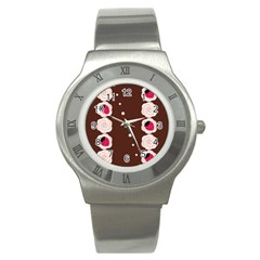 Cake Top Choco Stainless Steel Watch