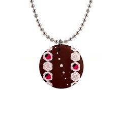 Cake Top Choco 1  Button Necklace