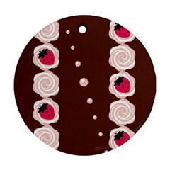 Cake Top Choco Round Ornament (Two Sides)