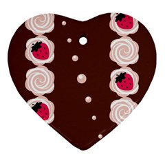 Cake Top Choco Heart Ornament (Two Sides)