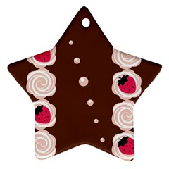 Cake Top Choco Star Ornament (two Sides)