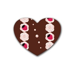 Cake Top Choco Rubber Coaster (Heart)