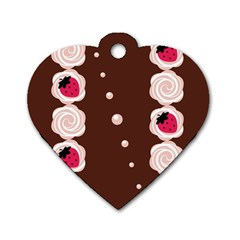 Cake Top Choco Dog Tag Heart (Two Sides)