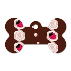 Cake Top Choco Dog Tag Bone (two Sides)