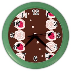Cake Top Choco Color Wall Clock