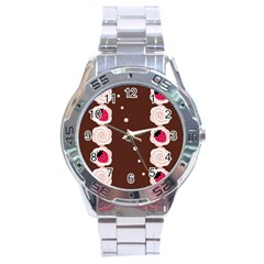 Cake Top Choco Stainless Steel Analogue Men's Watch