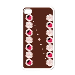 Cake Top Choco Apple iPhone 4 Case (White)