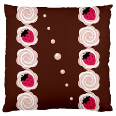 Cake Top Choco Large Cushion Case (one Side)