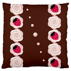 Cake Top Choco Large Cushion Case (two Sides)