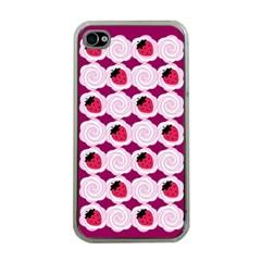 Cake Top Grape Apple iPhone 4 Case (Clear)