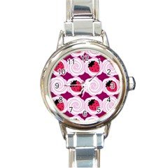 Cake Top Grape Round Italian Charm Watch