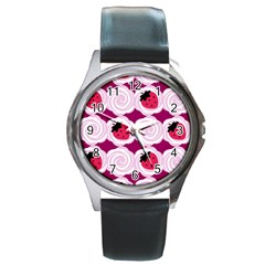 Cake Top Grape Round Metal Watch