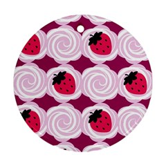 Cake Top Grape Round Ornament (two Sides)