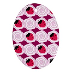 Cake Top Grape Oval Ornament (Two Sides)