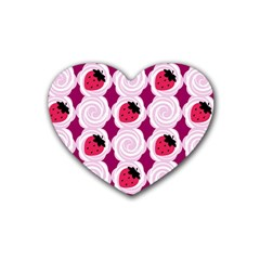 Cake Top Grape Rubber Coaster (Heart)