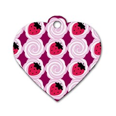Cake Top Grape Dog Tag Heart (Two Sides)