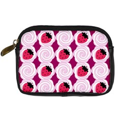 Cake Top Grape Digital Camera Leather Case