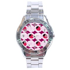 Cake Top Grape Stainless Steel Analogue Men's Watch