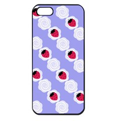 Cake Top Blueberry Apple iPhone 5 Seamless Case (Black)