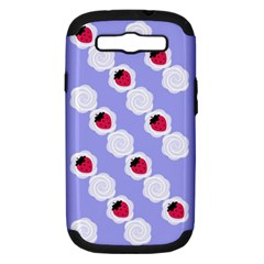 Cake Top Blueberry Samsung Galaxy S III Hardshell Case (PC+Silicone)
