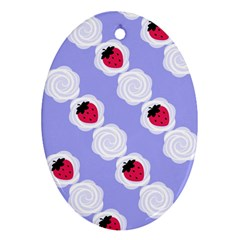 Cake Top Blueberry Ornament (Oval)
