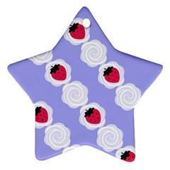 Cake Top Blueberry Ornament (Star)