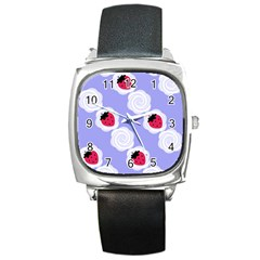 Cake Top Blueberry Square Metal Watch