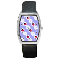 Cake Top Blueberry Barrel Style Metal Watch