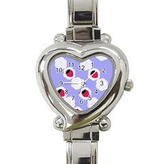 Cake Top Blueberry Heart Italian Charm Watch
