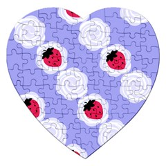 Cake Top Blueberry Jigsaw Puzzle (heart)