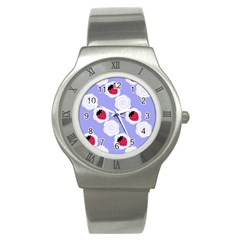 Cake Top Blueberry Stainless Steel Watch