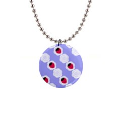 Cake Top Blueberry 1  Button Necklace