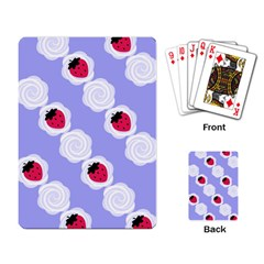 Cake Top Blueberry Playing Cards Single Design