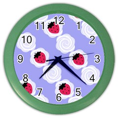 Cake Top Blueberry Color Wall Clock