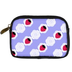 Cake Top Blueberry Digital Camera Leather Case