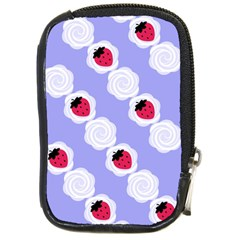 Cake Top Blueberry Compact Camera Leather Case