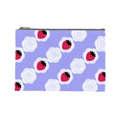 Cake Top Blueberry Cosmetic Bag (Large)
