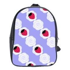 Cake Top Blueberry School Bag (Large)