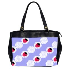 Cake Top Blueberry Oversize Office Handbag (two Sides)