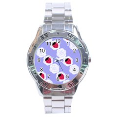 Cake Top Blueberry Stainless Steel Analogue Men's Watch
