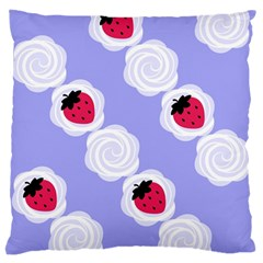 Cake Top Blueberry Large Cushion Case (two Sides)