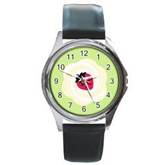 Cake Top Lime Round Metal Watch