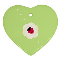 Cake Top Lime Ornament (Heart)
